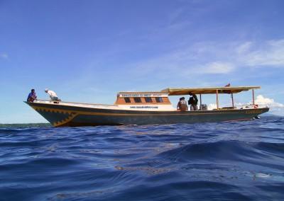 Khanisha on deep blue sea