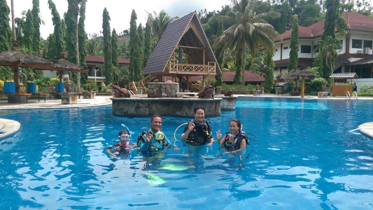 Dive course at Tasik Ria