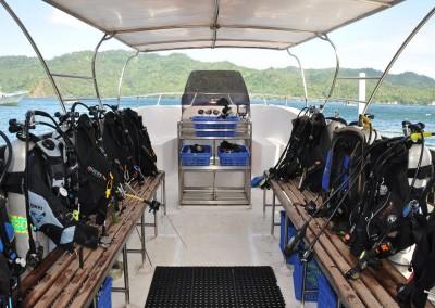 Dive boat interior