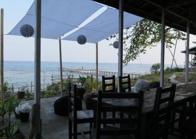 Terrace & jetty