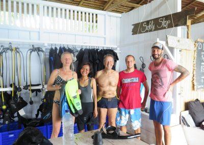 Dive Center - equipment room