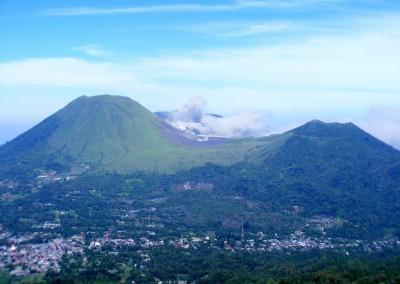 Mt. Lokon erupting