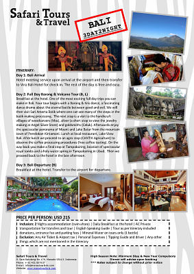 Discover Minahasa Package, 4D/3N